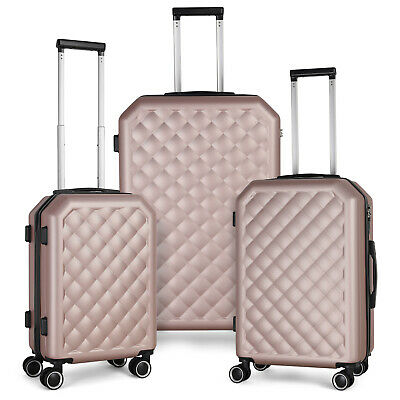 3 Piece Sets HardShell  PC-ABS Spinner Suitcase 20 inch 24 inch 28 inch