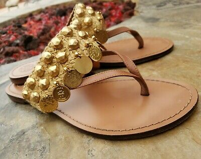 Tory Burch PATOS COIN THONG SANDAL  Size 8 New 278