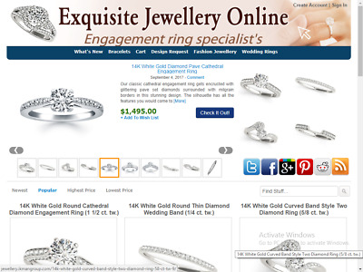 Jewelry Website - Best Affiliate Income - Free Installation - Free Hosting
