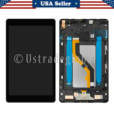 For Samsung Galaxy Tab A 8-0 T290 T295 LCD Digitizer Touch Screen Assembly Frame