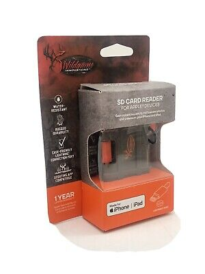 Wildgame Innovations SD Card Reader for Apple Devices iPhone iPad Lightning Port
