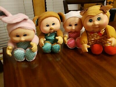 4  Cabbage Patch Kids Cuties Doll Reindeer Cat Bunny and  Monkey 2019 10 CPK