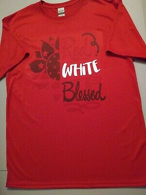 Ladies Fourth Of July Red T Shirt Casual Size M