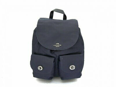 Secondhand Coach Backpack F58814 Navy Nylon