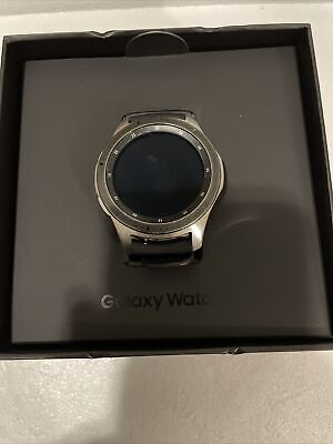 Samsung Galaxy Watch 46mm Silver Stainless Steel Case SMR800 Warranty Included