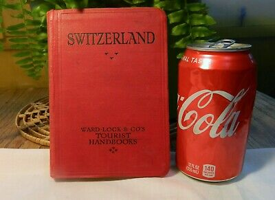 Antq RED GUIDES 1930 Ward - Lock Co Travel Guide toSWITZERLAND Maps -