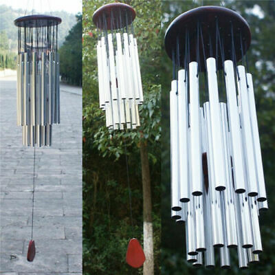 Large 27 Tubes Windchime Chapel Bells Wind Chimes Outdoor Garden Home Decor US