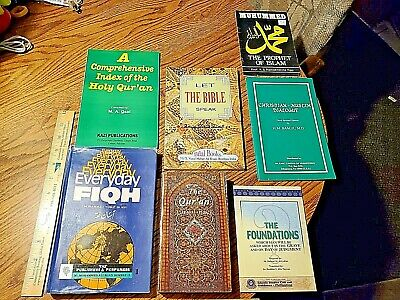Lot of 7 Muslim Islam The Quran Muslim Fiqh religious books Great Condition