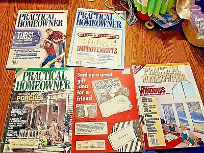 LARGE LOT of 10 issues of Practical Homeowner Magazine 1986 1987 SEE PICS RARE