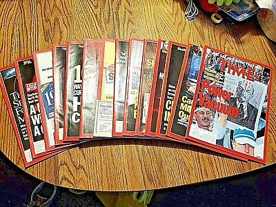 LARGE LOT of 14 TIME magazines from september 1991 - december 1991 SEE PICS