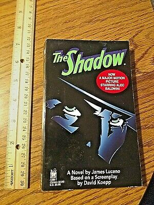 THE SHADOW by James Luceno PB book 1994 hard to find Alec Baldwin RARE SEE PIC