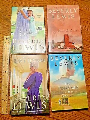 LOT of 4 BEVERLY LEWIS amish stories books The postcard guardian love letters