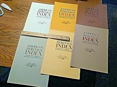 LARGE LOT of 12 American Heritage Index from 1954-1966 GREAT LOT SEE PICS