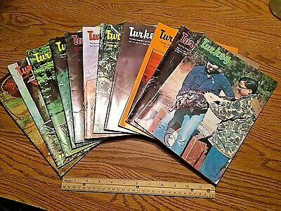LARGE LOT of 11 Turkey Monthly Magazine collection hunter game 1985 SEE PICS