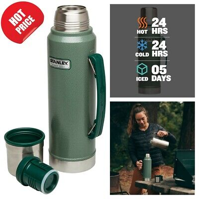 Classic Vacuum Thermos Bottle Coffee Insulated Wide Mouth 1-1 Qt Stainless