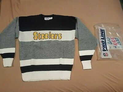 Vintage 70s BRAND NEW Pro Line X-Large Cliff Engle Pittsburgh Steelers Sweater
