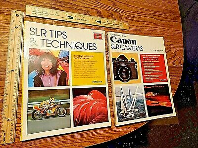 Lot of 2 CANON SLR How-To photography books Rare HP books F-1 AE-1 A-1 AV-1