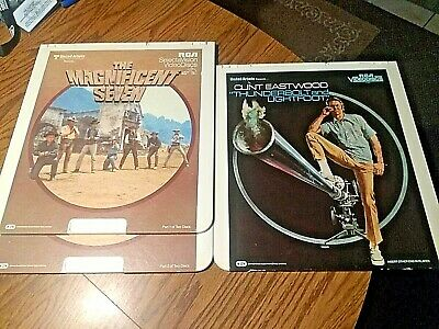 Vintage RCA Selectavision Videodisc lot of 10 army war western movies SEE PICS