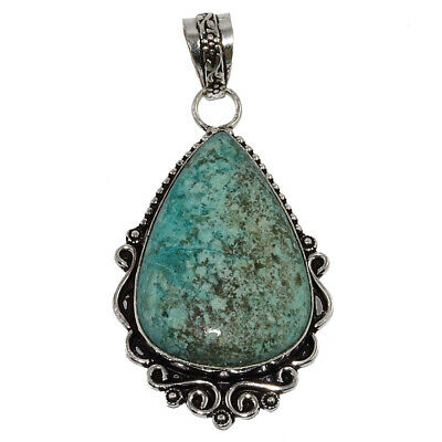 Chrisocolla Gemstone Mothers Day Girlfriend Gifted Silver Jewelry Pendant 2-5