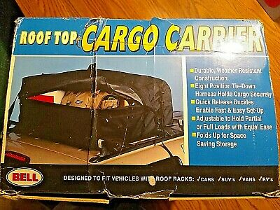 BRAND NEW BELL Roof Top Cargo Carrier Black Durable Weather Resistant SEE PICS