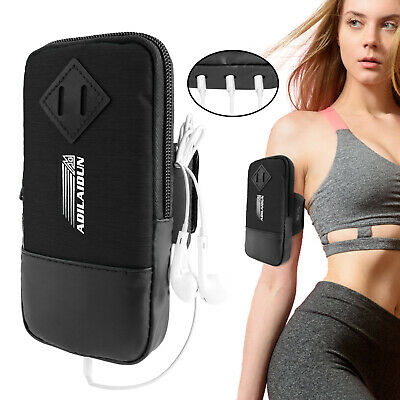 Universal Arm Band Phone Holder Pouch Running Fitness Armband 2in1 Wristband Bag