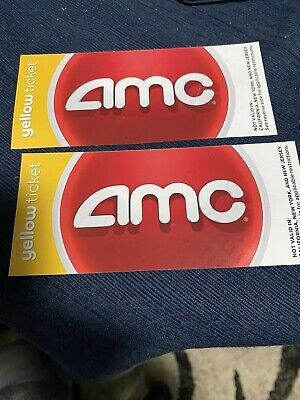 2 AMC Yellow Movie Passes-Reg- 34 selling 16-codes Texted For Online - App