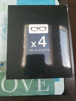 USED - Set of 4 Samsung Active 3d glasses ssg-5100gb untested