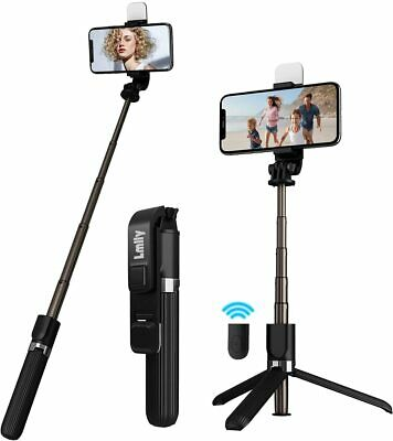 32 In Selfie Stick Tripod Stand with Fill Light Remote for Cell Phone US Stock