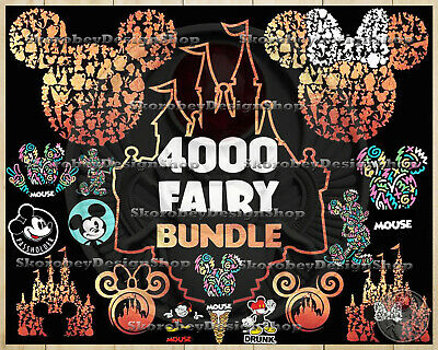 4000 Disney SVG Bundle Huge Fiary Clipart Mickey and Minnie Mouse Cut Files Set