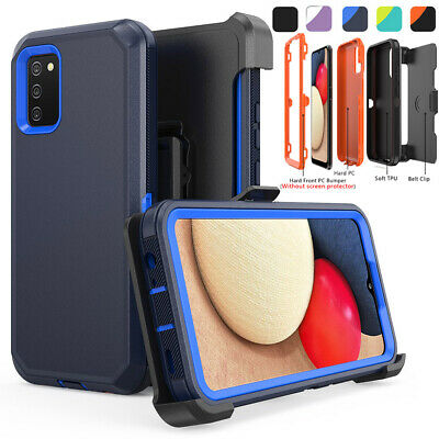 For Samsung Galaxy A02S Case Holster Belt Clip Stand Shockproof Heavy Duty Cover