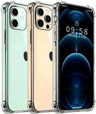 For iPhone 13 SE 7 8 Plus X XR XS 11 12 Mini Pro Max Case CLEAR Slim Clear Cover