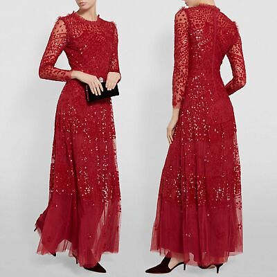 Needle - Thread Red Evening Dress maxi UK8 Kate Middleton sequin SOLD OUT BNWT