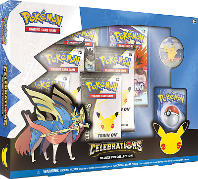 Deluxe Pin Collection Pokemon Celebrations TCG NEW