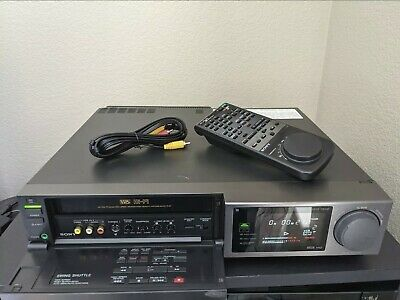 Sony SLV-676UC Pro 4 Head Stereo HiFi VHS VCR w Remote Cables REFURBISHED