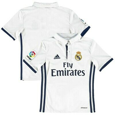 Real Madrid 1617 Home Replica Blank Jersey Adidas Youth XL White NWT