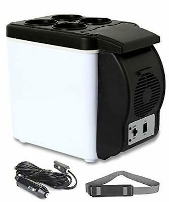 6 Liter9 Cans Mini Fridge Electric Cooler and Warmer for all Season12V White
