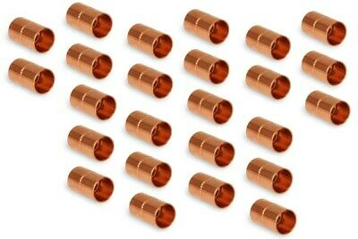 38 HVAC Copper Coupling with Rolled Stop  W01009  C165-0002  Pack of 25