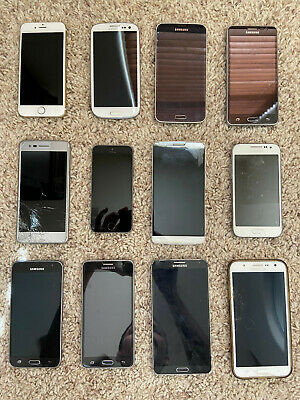 Lot of 12 cell phones