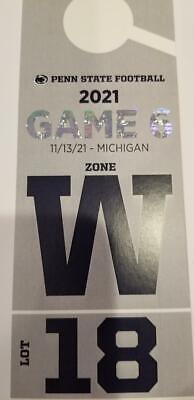Penn State vs Michigan RESERVED Parking - Lot 18 Old Green Lot