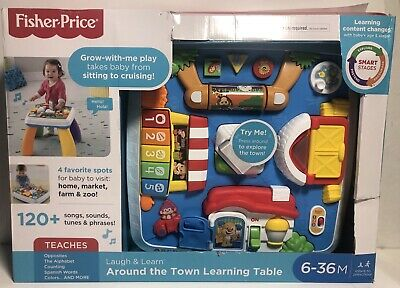 Fisher-Price Laugh - Learn Around The Town Learning Table New In Shelf Worn Box