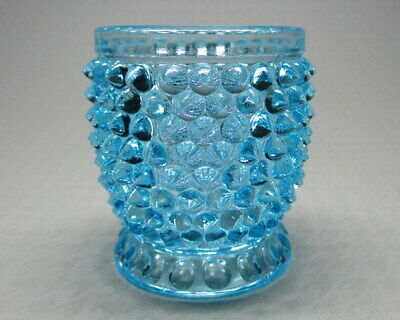 Blue hobnail open cup with no lid  Doyle 1890's number 150 0448