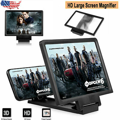 14 Smartphone Screen Magnifier 3D Video Mobile Phone Amplifier Stand Bracket US