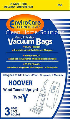 HOOVER WIND TUNNEL TYPE Y WINDTUNNEL VACUUM BAGS 3 PACK  Buy 2 get one free