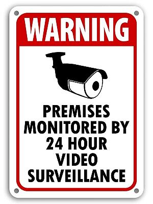 WARNING SIGNS 24 HOUR VIDEO SURVEILLANCE SECURITY SIGN - CCTV CAMERA SIGN