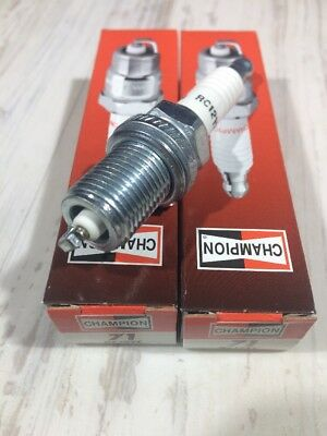 Genuine Champion Spark Plug RC12YC Fits Kohler 12 132 02-S Deere M78543 Pack 2