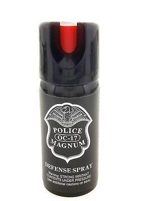 Police Magnum pepper spray 2oz Safety Lock Stream Defense Security Protection