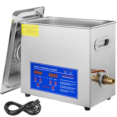 New 6L Ultrasonic Cleaner Stainless Steel Industry Heated Heater wTimer