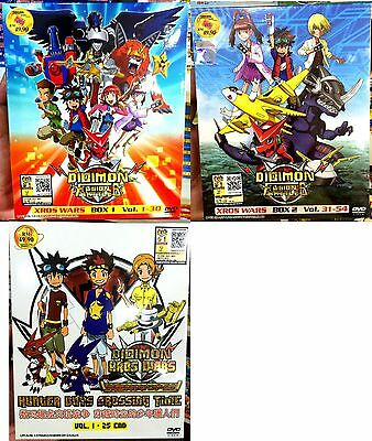 Digimon Fusion Part 1 2 3 Chapter 1 - 79 End  10-DVD SET  English Subtitle