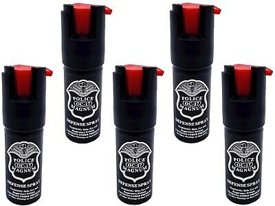 5 PACK Police Magnum pepper spray 12oz unit safety lock self defense security