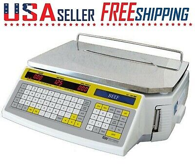 Easy Weigh LS-100F Printing Label scale LS100F LS100 NETP 60LB Deli Meat Grocery